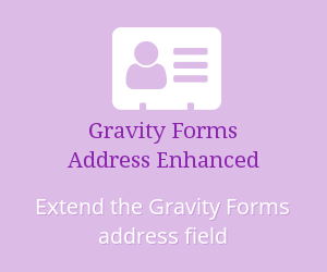 Gravity Forms Address Enhanced; Extend the Gravity Forms address field.