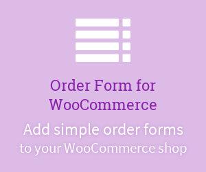 Add simple order forms to your WooCommerce shop